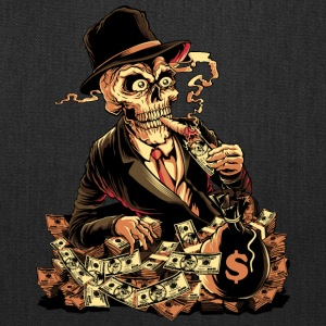 skeleton-cigar-dollar-comics-cartoon - Tote Bag