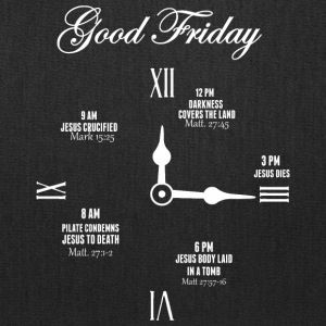Good Friday Clock Jesus - Tote Bag