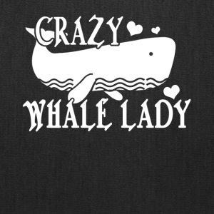 Crazy Whale Lady Tee Shirt - Tote Bag