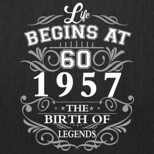 Life begins 60 1957 The birth of legends - Tote Bag