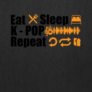 Eat Sleep K-Pop Repeat Tee Shirt - Tote Bag