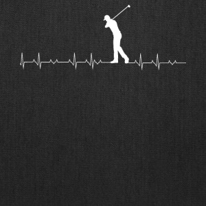 Golf heartbeat lover - Tote Bag