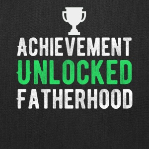 Achievement Unlocked Fatherhood T-Shirt - Tote Bag