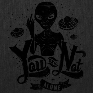 you_are_not_alone_black - Tote Bag
