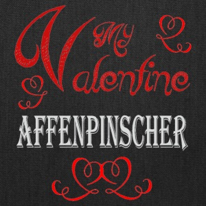 A romantic A romantic Valentine with my Affenpinsc - Tote Bag