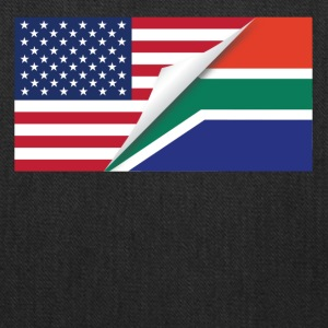 Half American Half South African Flag - Tote Bag