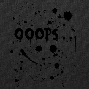 Oops text with ink splatter - Tote Bag