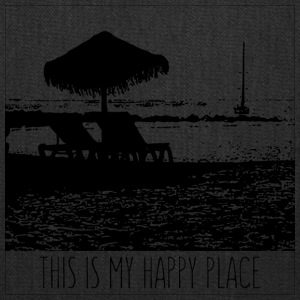 The beach is my happy place - Tote Bag