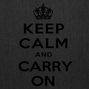 keep calm and carry on - Tote Bag