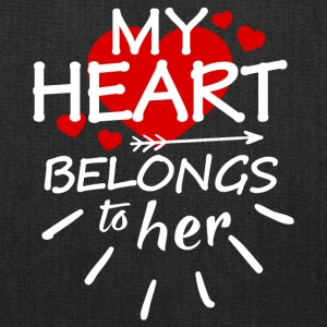 My heart belongs to her (white text) - Tote Bag