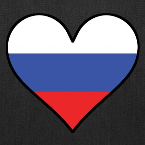 Russian Flag Heart - Tote Bag