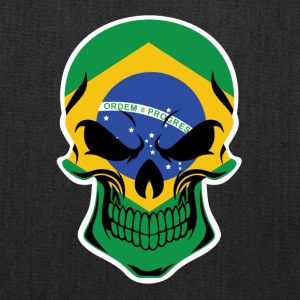 Brazilian Flag Skull - Tote Bag
