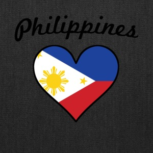 Philippines Flag Heart - Tote Bag