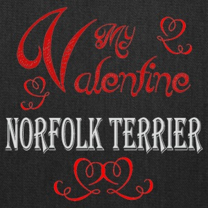 A romantic Valentine with my Norfolk Terrier - Tote Bag