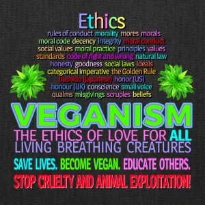 Ethics STOP ANIMAL EXPLOITATION. Go vegan. - Tote Bag