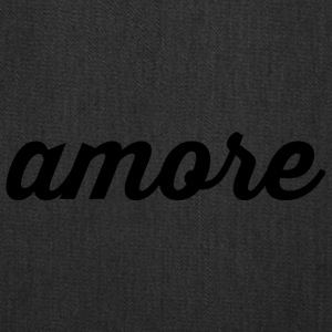 Amore - Cursive Design (Black Letters) - Tote Bag