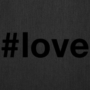 Love - Hashtag Design (Black Letters) - Tote Bag