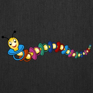 caterpillar out of pacifiers - Tote Bag