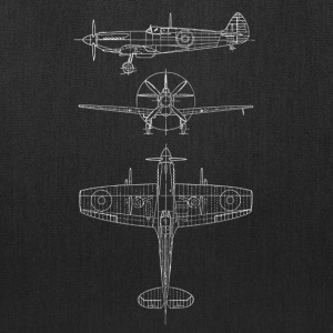 Spitfire airplane blueprint