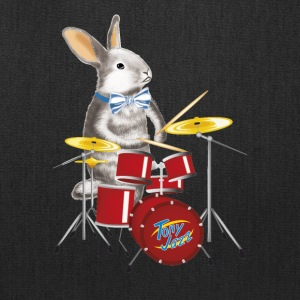 musician Rabbit with drum - Tote Bag