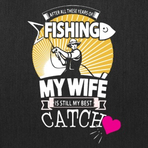 Fisherman Love His Wife Shirt - Tote Bag