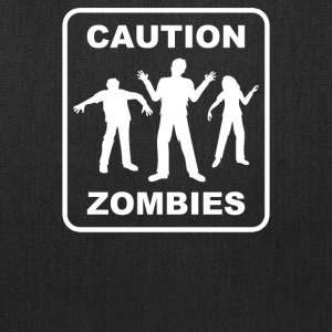 Caution Zombies - Tote Bag