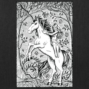 Unicorn Ride A Horse Gift Shirt Preminium - Tote Bag