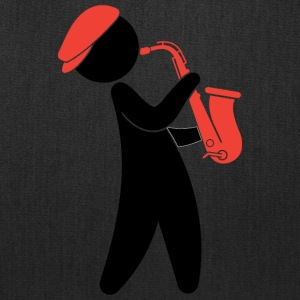 A Jazz Musician Playing On The Saxophone - Tote Bag