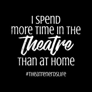 Theater Pun Broadway Musical Theatre Actor Acting Bandana - black