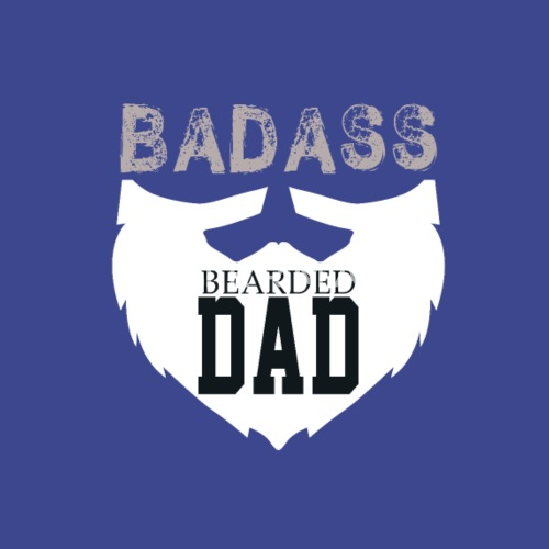 f0f6cd48 ... Badass Bearded Dad - Tote Bag royal blue. Do you want to edit the  design?