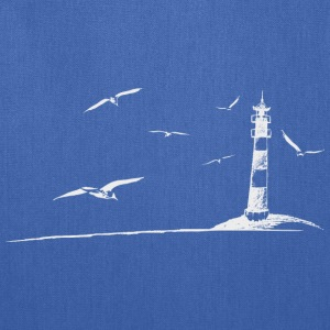 Seagulls lighthouse sea shore beach peaceful gift - Tote Bag