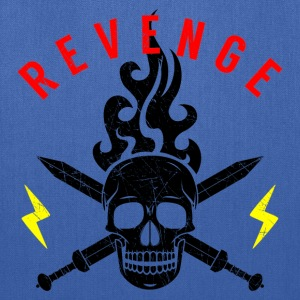 Skull Swords Flames Revenge Flash Biker Rocker - Tote Bag