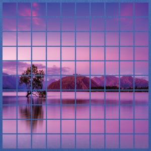Purple Grid Lake - Tote Bag