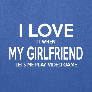 Play video game girlfriend shirt - Tote Bag
