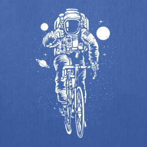 Astronaut rides bicycle in the space! - Tote Bag