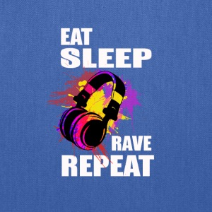 Eat Sleep Rave Repeat Electronic Music - Tote Bag