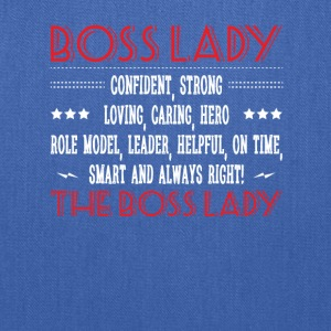 Boss Lady Confident Smart Always Right - Tote Bag