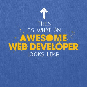 An Awesome Web Developer Looks Like - Tote Bag