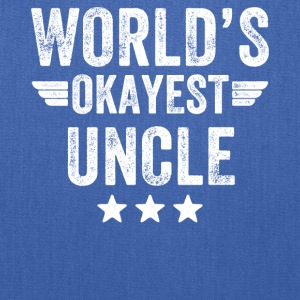 world's okayest uncle - Tote Bag