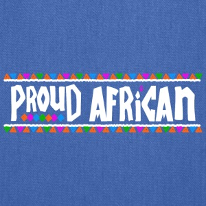 Proud African - Tribal Design (White Letters) - Tote Bag