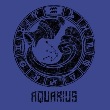 AQUARIUS Zodiac Sign Astrology Horoscope Baseball Cap - black