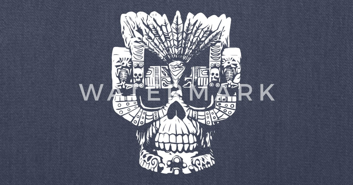 Aztec Gods Skull By Mostees Spreadshirt