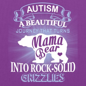 Autism Mom Beautiful Journey Turns Mama Bear Shirt - Tote Bag