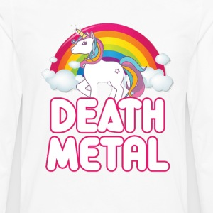Unicorn Death Metal - Men's Premium Long Sleeve T-Shirt