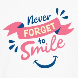 Never forget to smile - Men's Premium Long Sleeve T-Shirt