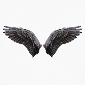 Black angel wings - Men's Premium Long Sleeve T-Shirt