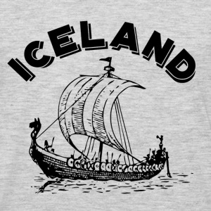 Iceland Viking Ship - Men's Premium Long Sleeve T-Shirt
