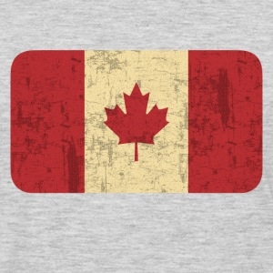 Grungy Flag of Canada - Men's Premium Long Sleeve T-Shirt
