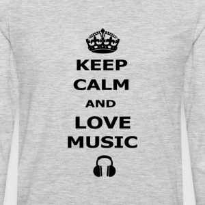 keep calm and love music - Men's Premium Long Sleeve T-Shirt
