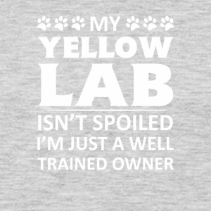 Yellow Labrador Retriever Isnt Spoiled - Men's Premium Long Sleeve T-Shirt